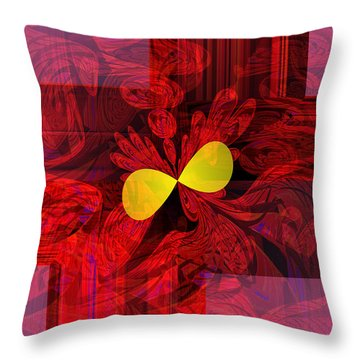 Red Transparency Throw Pillow