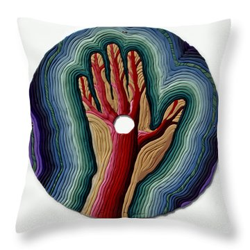Red Tree Throw Pillow by Arla Patch