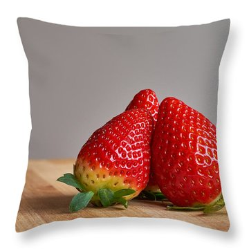 Red Trio Throw Pillow