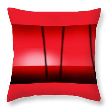 Red Tropical Abstract Sunset Throw Pillow by Gina De Gorna