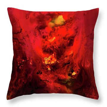 Red Universe Throw Pillow