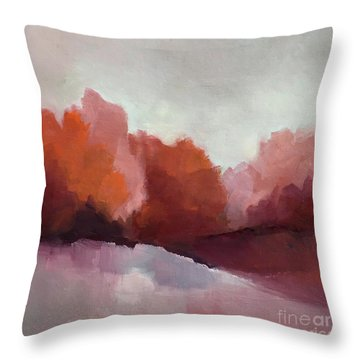 Red Valley Throw Pillow