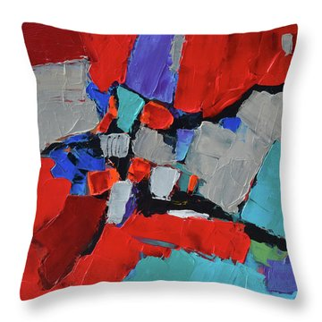 Throw Pillow featuring the painting Red Variation by Elise Palmigiani