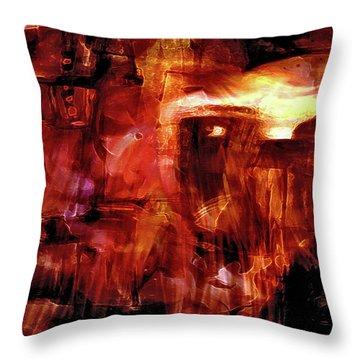 Throw Pillow featuring the photograph Red Veil by Linda Sannuti