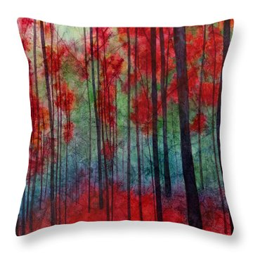 Red Velvet Throw Pillow by Hailey E Herrera