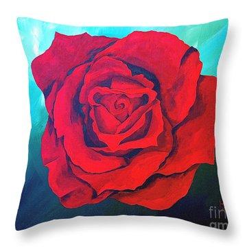 Red Velvet Throw Pillow by Herschel Fall