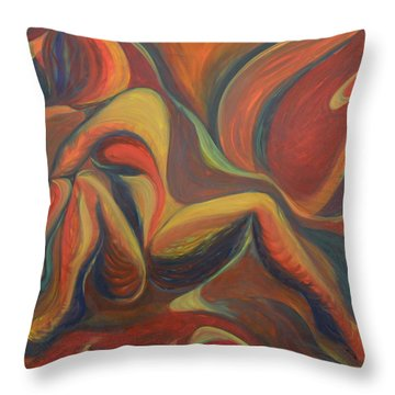 Red Venture Unknown Throw Pillow