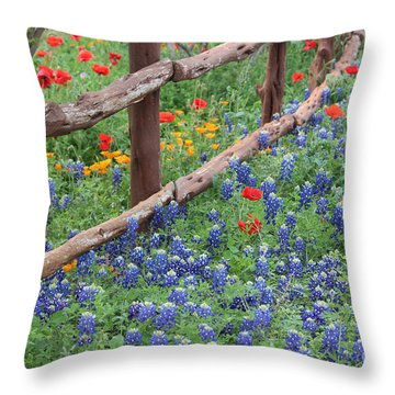Red Versus Blue Throw Pillow by Joe Jake Pratt