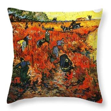 Red Vineyard Throw Pillow