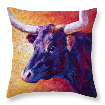 Red Violet Throw Pillow