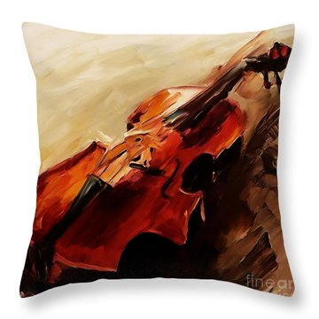 Red Violin  Throw Pillow