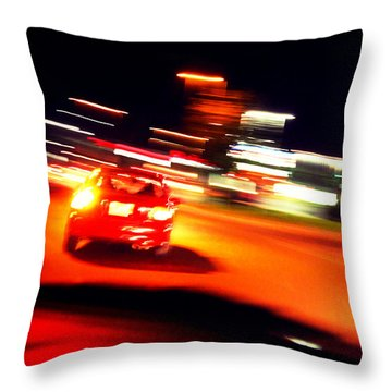 Red Vision Throw Pillow