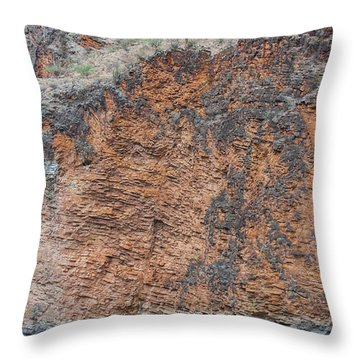 Throw Pillow featuring the photograph Red Wall Raft by Britt Runyon
