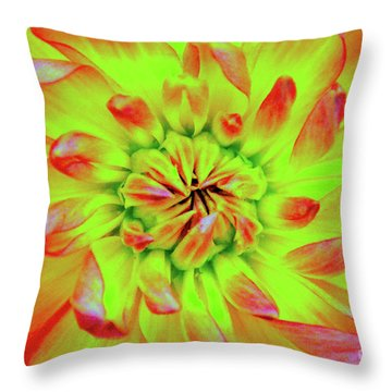 Red Whirl Throw Pillow