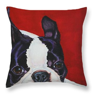 Red White And Black Throw Pillow