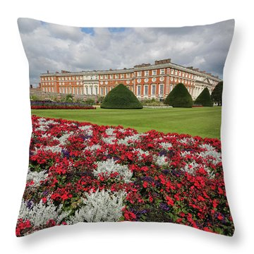 Red White And Blue At Hampton Court Throw Pillow