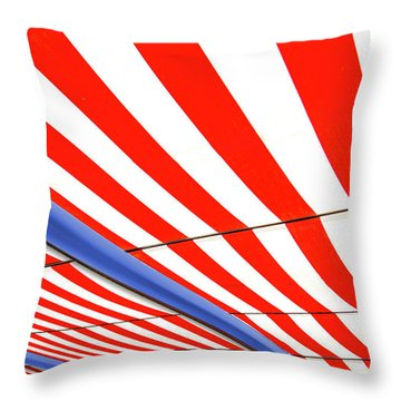 Throw Pillow featuring the photograph Red White And Blue by Paul Wear
