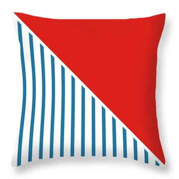 Red White And Blue Triangles 2 Throw Pillow by Linda Woods