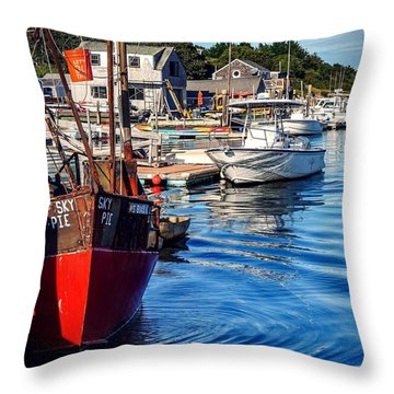 Throw Pillow featuring the photograph Red White Blue by Kendall McKernon