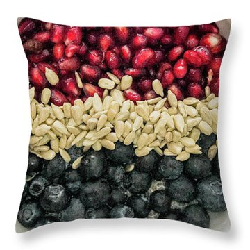 Red White Blue Power Breakfast Throw Pillow