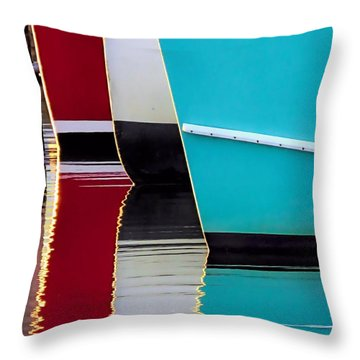 Red White Blue Reflections Throw Pillow