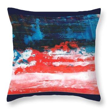 Red White Blue Scene Throw Pillow