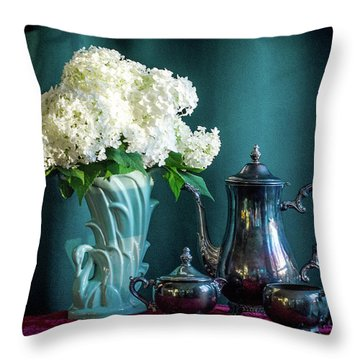Red, White, Blue Throw Pillow by Wendy Blomseth