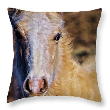 Red Willow Pony Throw Pillow