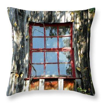 Throw Pillow featuring the photograph The Red Window by Sandi OReilly