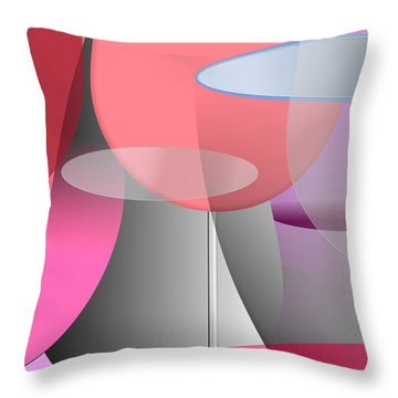 Red Wine Abstract Throw Pillow