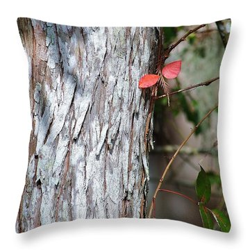 Red Winged Dragonfly Throw Pillow