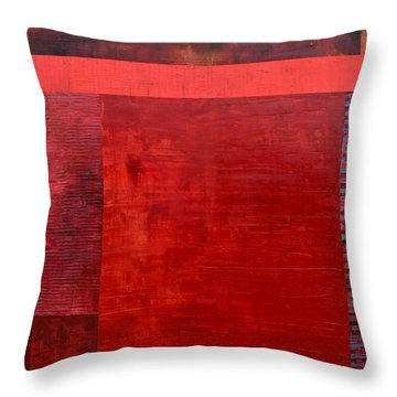 Red With Orange Throw Pillow