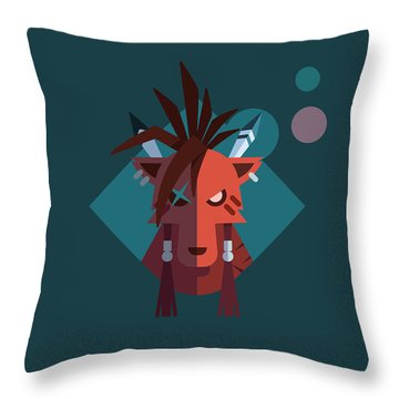 Throw Pillow featuring the digital art Red Xiii by Michael Myers