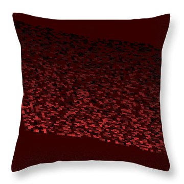 Red.110 Throw Pillow by Gareth Lewis