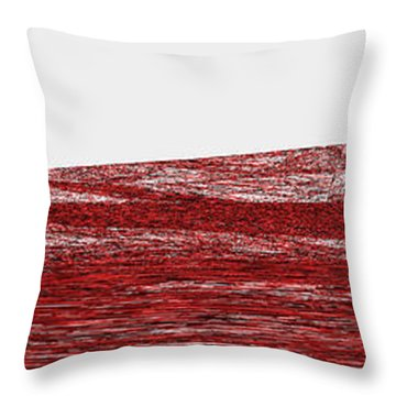 Red.306 Throw Pillow