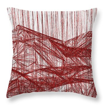 Red.324 Throw Pillow