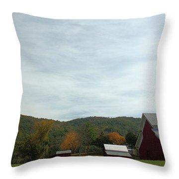 Redbarn Farm Throw Pillow