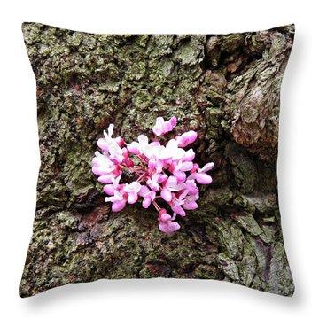 Redbud Flowers 1  Throw Pillow by Sarah Loft