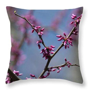 Redbud Throw Pillow