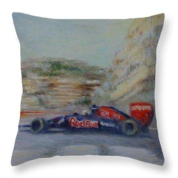 Redbull Racing Car Monaco  Throw Pillow