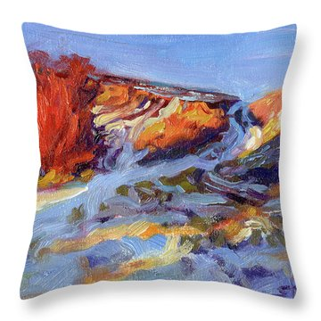 Redbush Throw Pillow