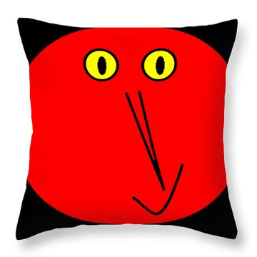 Reddddyyy Throw Pillow