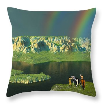 Redemption For An Angry Sky Throw Pillow