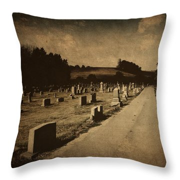 Redemption Road Throw Pillow by Amy Tyler