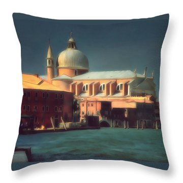 Throw Pillow featuring the photograph Redentore Giudecca Venezia I by Jack Torcello