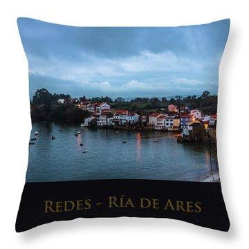 Redes Ria De Ares La Coruna Spain Throw Pillow