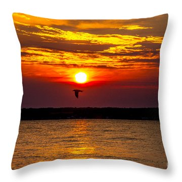 Throw Pillow featuring the photograph Redeye Flight by William Norton