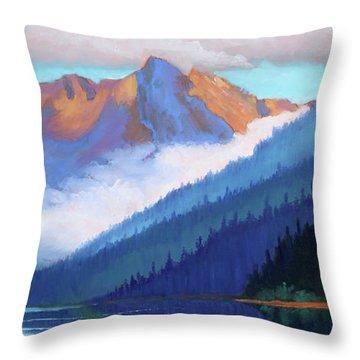 Redfish Lake - Low Clouds Throw Pillow