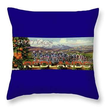 Redlands Greetings Throw Pillow
