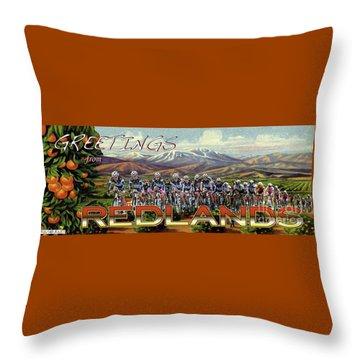 Redlands Greetings Throw Pillow